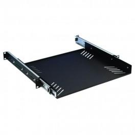 NIEUW - 19 inch racksteun met laderails 1U
