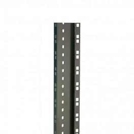 Zwart stalen rackprofiel, dubbel (200 cm)