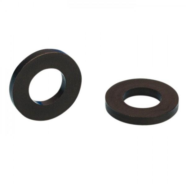 rondelle plate pour vis m6 plastique noir 50 pi ces. Black Bedroom Furniture Sets. Home Design Ideas