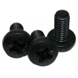 Bout M6x12 voor vierkante moer, zwart, 50 stuks