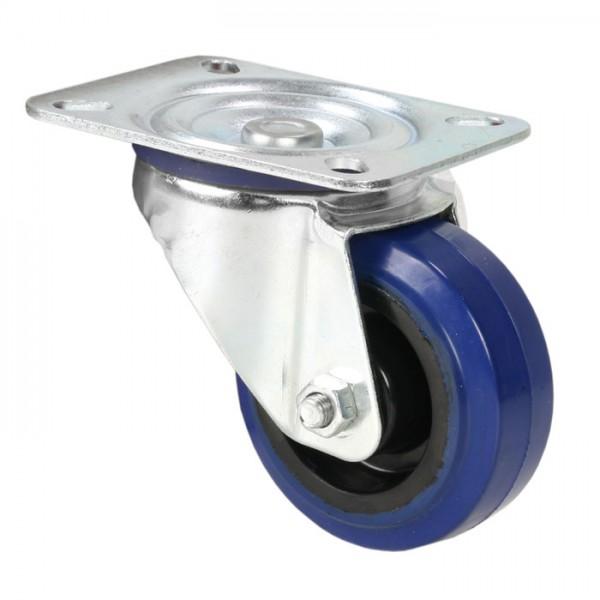 petite roulette pivotante bleue pour flight case sans frein. Black Bedroom Furniture Sets. Home Design Ideas