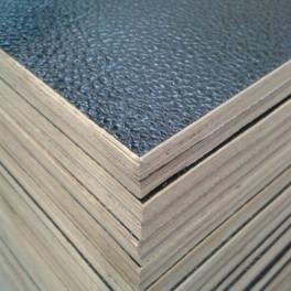Flightcase hout (10 mm) zwart 125 cm x 102 cm, met zwarte achterzijde