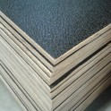 Flightcase hout (7 mm) zwart 125 cm x 102 cm, met zwarte achterzijde