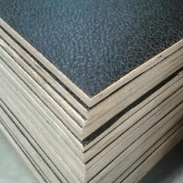 Flightcase hout (7 mm) zwart 125 cm x 250 cm, met zwarte achterzijde