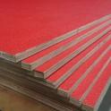Flightcase hout (10 mm) ROOD 125 cm x 250 cm, met zwarte achterzijde