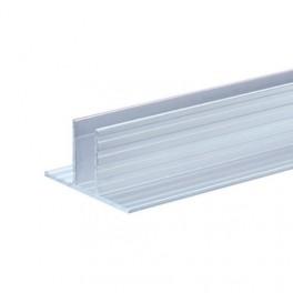 T-profiel 9,5 mm (basis voor tussenschot) (1x 200 cm)