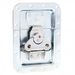 Large recessed butterfly latch, with spring