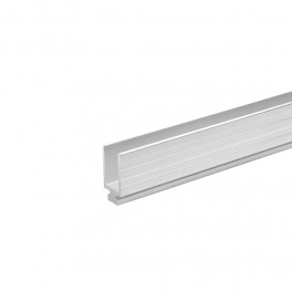 Aluminium glijdend profiel 9,5 mm, mannelijk (1x 200 cm)