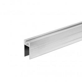 Aluminium glijdend profiel 9,5 mm, vrouwelijk (1x 200 cm)