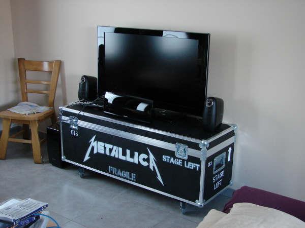 Projets de flightcases à la loupe  wwwflightcasebricocom -> Meuble Tv Flight Case